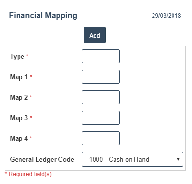 Financial Mappings Add