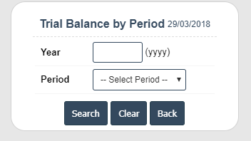 Trial Balance by Period